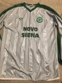 Camisa Goiás Prata Especial Raríssima Anos 2000 Marca Goiás