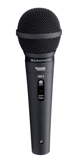 Microfone Com Fio Profissional 4.5m Preto Fnk-5 Novik