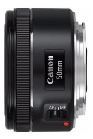 Lente Canon Ef 50mm F/1.8 Stm Com Motor De Auto-foco