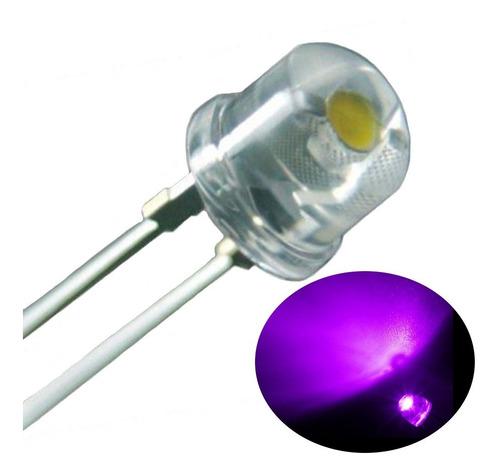 Led Uv Ultravioleta Straw Hat(chapéu) + Resistores - Kit