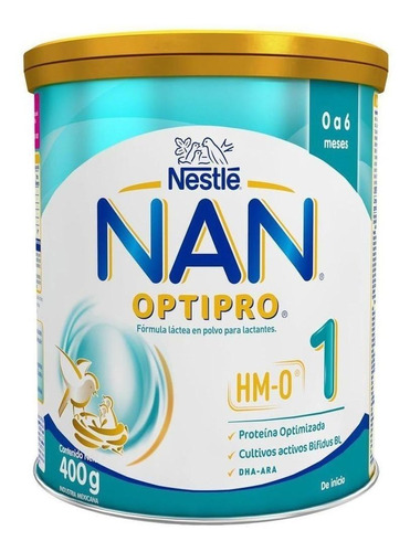 Imagen 1 de 1 de Leche de fórmula en polvo Nestlé Nan Optipro 1  en lata 400g
