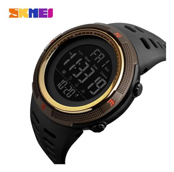 Relógio Masculino Barato Skmeii 1251 À Prova Dágua Relogio Digital Pulseira Silicone Led Promoção