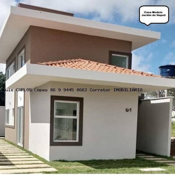 Casas Financiáveis Para Venda Em Teresina, Gurupi, 3 Dormitórios, 3 Suítes, 3 Banheiros, 2 Vagas - Casa Jard_2-787025