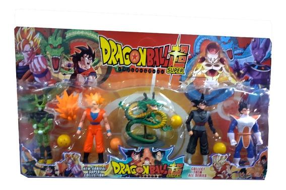 Figuras Dragon Ball Z Set 5 Muñecos Goku Vegeta Juguete Niño