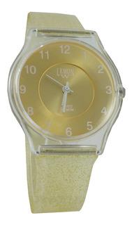 Reloj Lemon L1520 Caucho Brillo Glitter Elegi Color