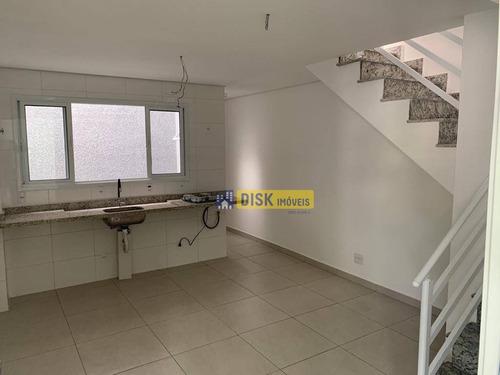 Imagem 1 de 15 de Cobertura Com 2 Dormitórios À Venda, 107 M² Por R$ 390.000,00 - Vila Pires - Santo André/sp - Co0086