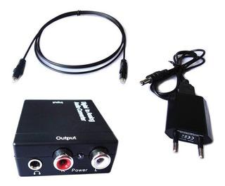 Conversor De Audio Digital A Análogo Óptico A Rca Y 3.5mm