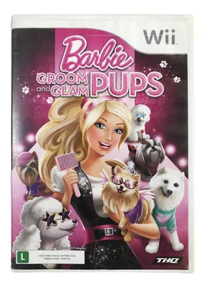 Barbie Groom And Glam Pups - Nintendo Wii Original Dublado