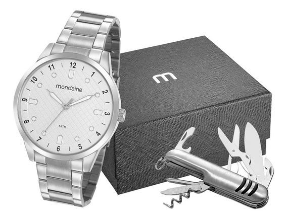 Relógio Mondaine Masculino + Canivete + Nf 32140g0mvne1k