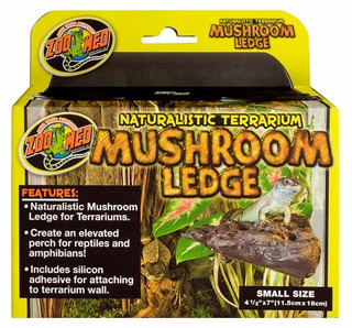 Mushroom Ledge Zoomed Small Terrario Decoracion Reptiles Gec