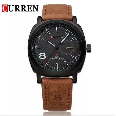 Relógio Masculino Curren 8139-1 Pulseira Couro