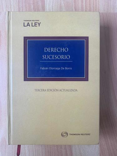 Imagen 1 de 1 de Derecho Sucesorio Tercera Edición Elorriaga