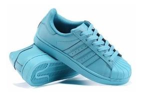 Tenis adidas Superstar Originales Color Azul