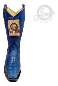 Bota Cobra Azul Original Dama Juniorcowboy Envío Gratis