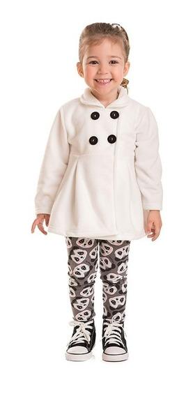 Conjunto Infantil Casaco Soft E Calça Cotton 1,2,3