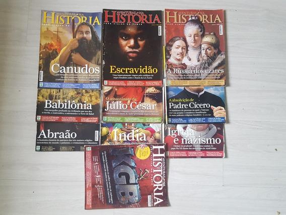 Revistas Aventuras Na História - 10 Exemplares De 2009