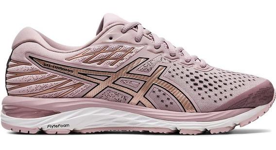 Asics Zapatillas Running Mujer Gel Cumulus 21 Rosa Gold