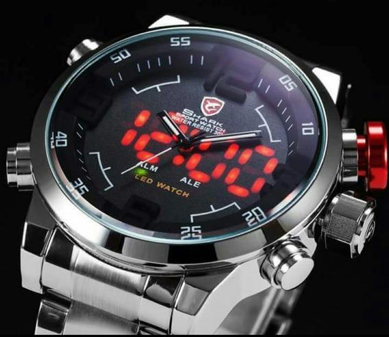Relógio Esportivo Shark Sh198 Original Led Pronta Entrega