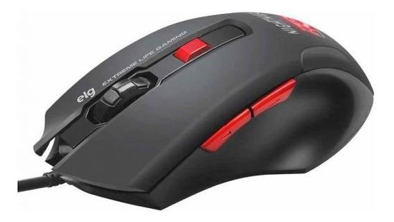 Mouse Gamer Night Mare 4000 Dpi Elg - Preto