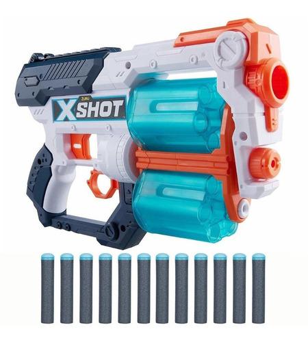 Imagen 1 de 8 de X-shot Pistola Xcess Doble Tambor Dardos New 01164 Bigshop