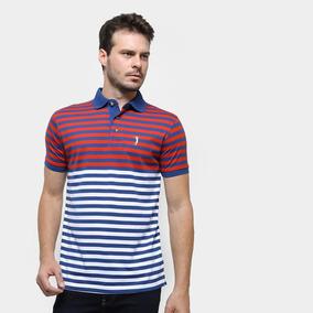 1a9277ecd3 Camisa Polo Aleatorio - Pólos Manga Curta Masculinas Azul no Mercado ...