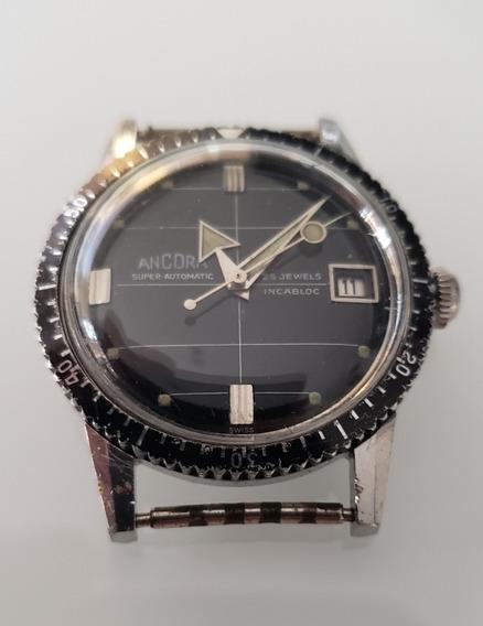 Relógio Antigo Ancora Automático Diver