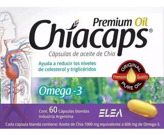 120 Capsulas Chiacaps Aceite De Chia Omega 3 (2x60)