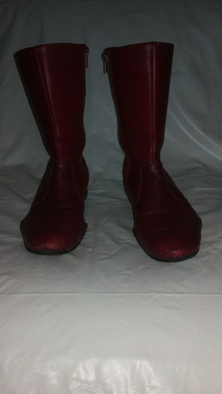 Botas Hush Puppies Air Cuero Bordo Caña Media En Belgrano R