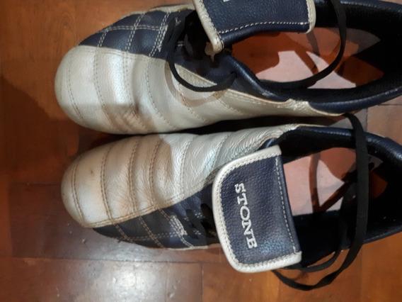 Zapatillas Stone. Plata Y Azul Original Cordon Lateral N39