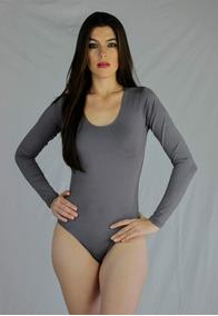 Body Modelador Manga Longa Suplex Colant Fechado Nas Costas
