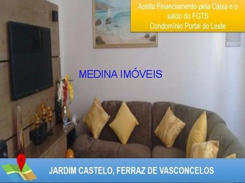 Imagem 1 de 20 de Apartamento Para Venda No Jardim Castelo - Ferraz De Vasconcelos - Ap00143 - 31906577