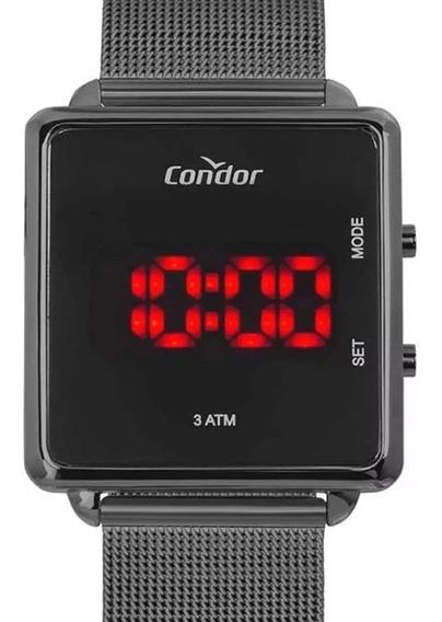 Relógio Condor Feminino Preto Digital Led Cojhs31bac/4c