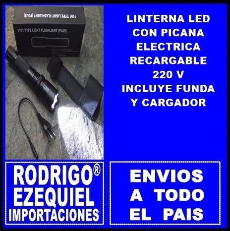 Linterna Led Con Picana Electrica Recargable 220 V Importada