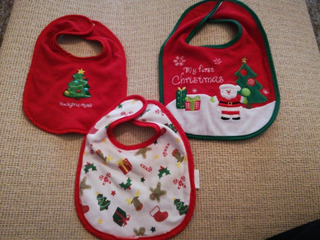 Baberos Navidad Papá Noel Bebés