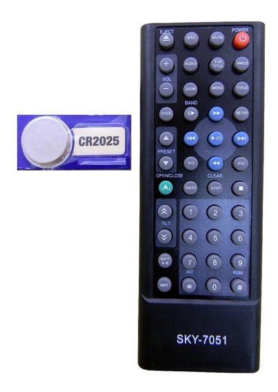 Controle Som Carro H-buster Hbd 9560 / 9750 / 9540 + Bateria