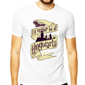 Camisa Harry Potter Id Rather Be At Hogwarts Ron Draco Luna
