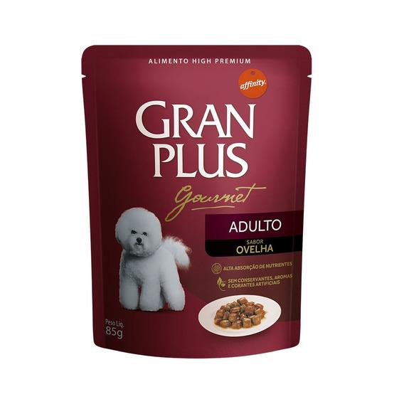 Ração Úmida Granplus Gourmet Para Cães Adultos Sachê Sabor Ovelha - 85g