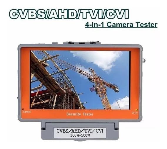 Monitor 5.0 Tester Testador Câmera 4 Em 1 Cvbs/ahd/tvi/cvi