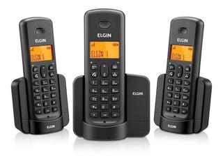 Telefone Sem Fio Com +02 Ramais Elgin Tsf 8003