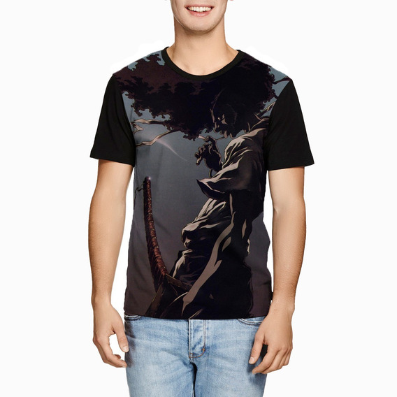 Camiseta Afro Ninja Samurai Personalizada