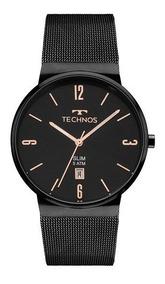 Relógio Technos Feminino Slim Preto Gm10yj/4p Original