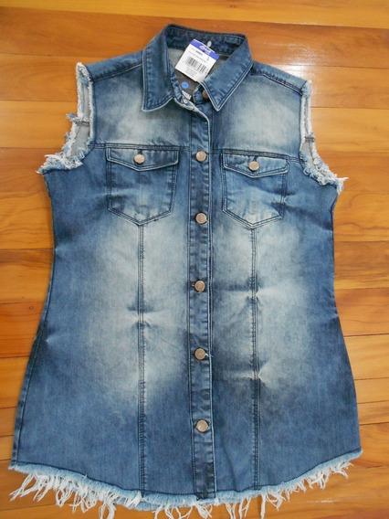 Colete Jeans Feminino - Sawary