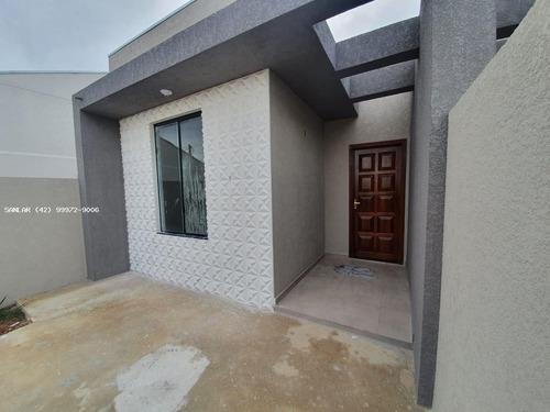 Imagem 1 de 11 de Casa Para Venda Em Ponta Grossa, Nova Ponta Grossa, 2 Dormitórios, 1 Banheiro, 2 Vagas - _1-1933406