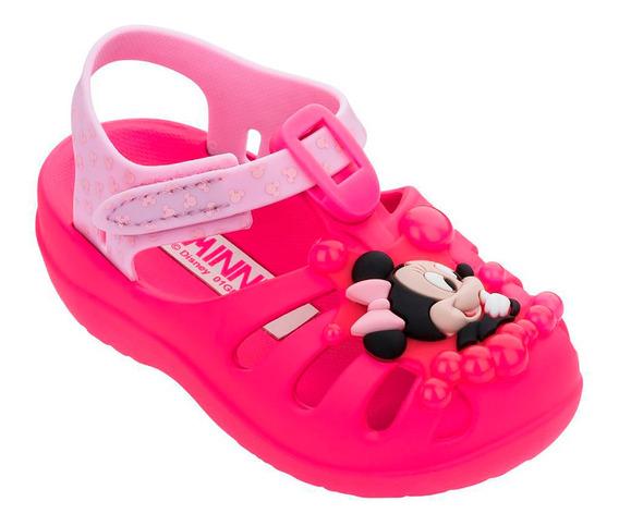 Sandália Menina Disney Sunny Baby Minnie - Rosa