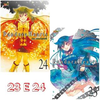 Pandora Hearts 23 E 24! Mangá Panini! Novo E Lacrado!