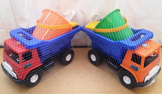 Camion Volteo Con Tobo Mediano Para Niños