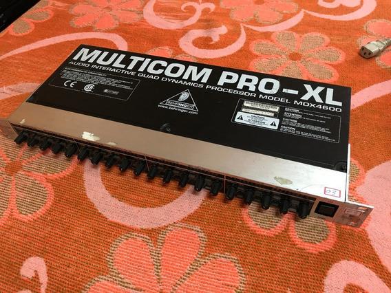 Compressor 4 Canais Multicom Pro Xl Mdx 4600 Behringer (03)