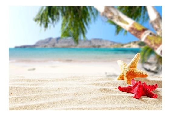 Fundo Fotográfico Praia Verão Tecido 2,2m X 1,5m - Pr08