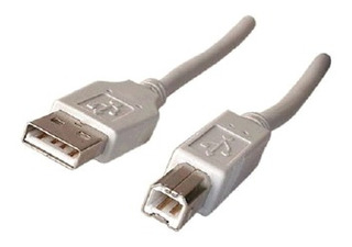 Cable Usb A-b Para Impresora 1,8 Mts Blanco