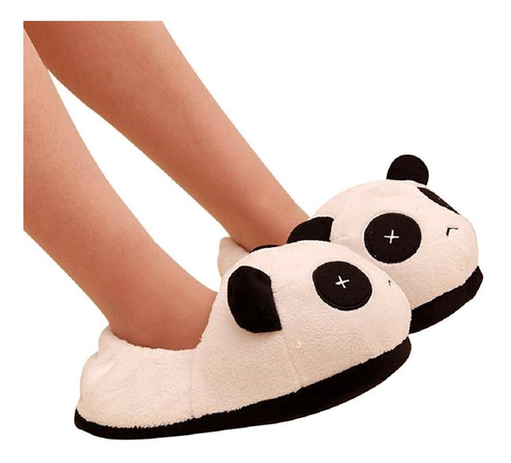 Pantuflas Panda Peluche Cute Kawaii Zapatos Oso Mujer Hombre
